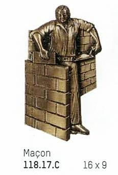 Ornement en bronze : Métier